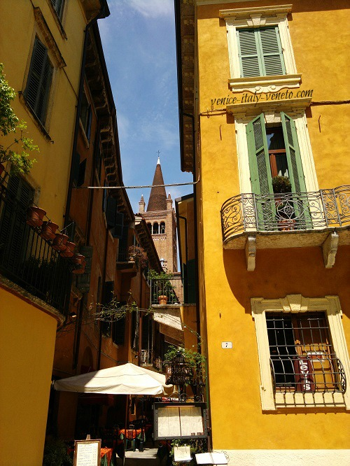 Verona -yellow buildings