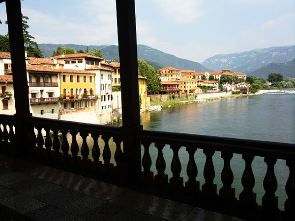 View from Bassano's wooden bridge