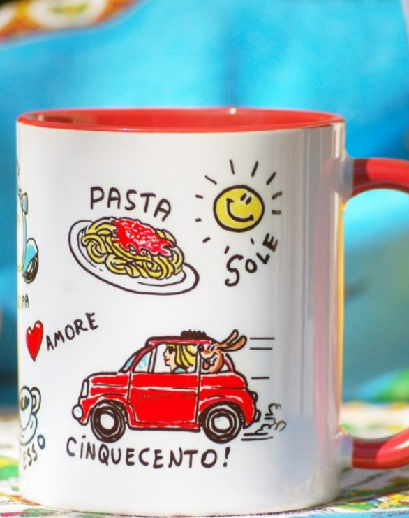 Reminders of Italy on a Mug