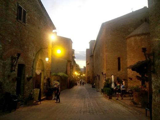 Certaldo in the old town