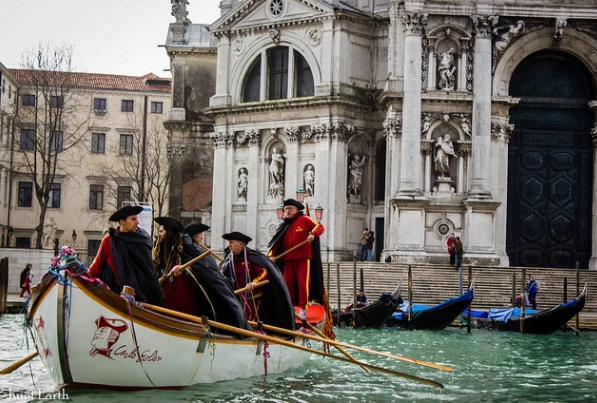Boatmen in Venice