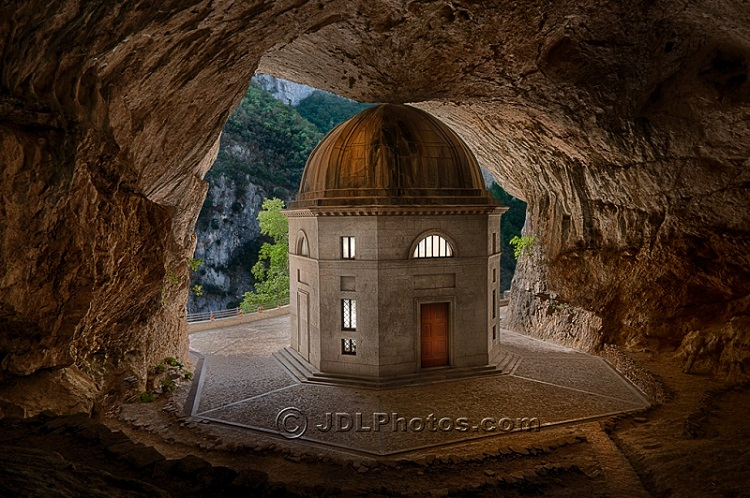 Cave in Italy by Jim DeLutes