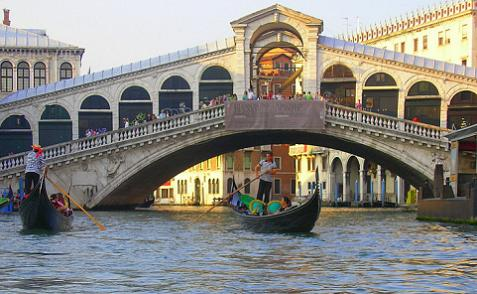 Home of the Rialto Bridge - Venice Italy