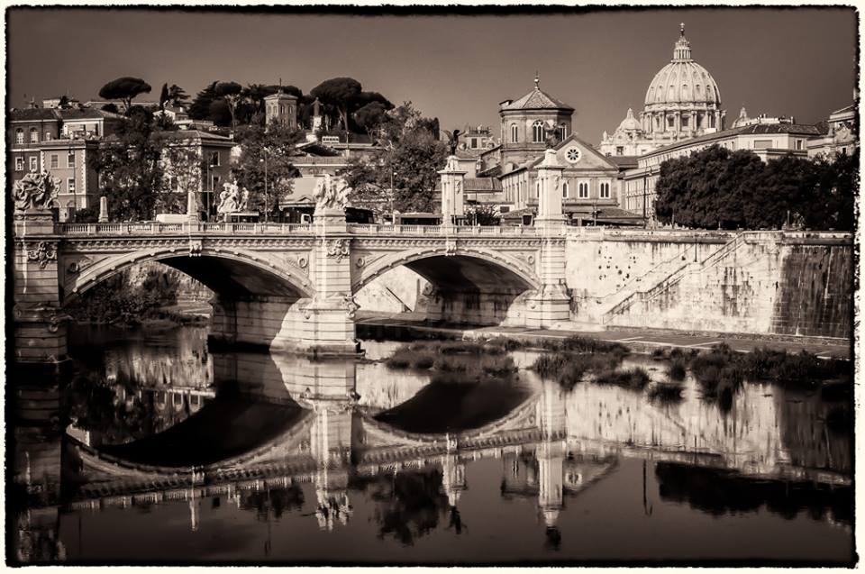 Rome Italy  Black and white