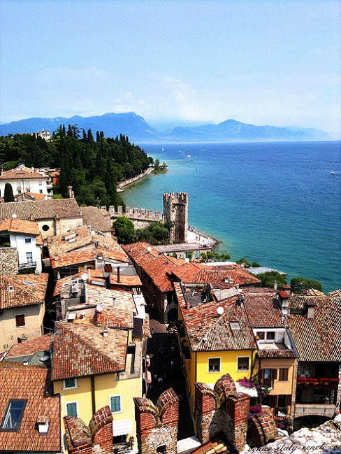 A view of Sirmione from the Scaliger Castle