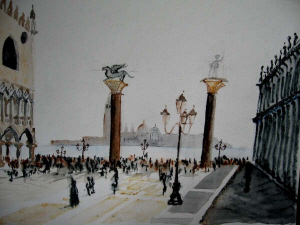 Venice watercolour paintings