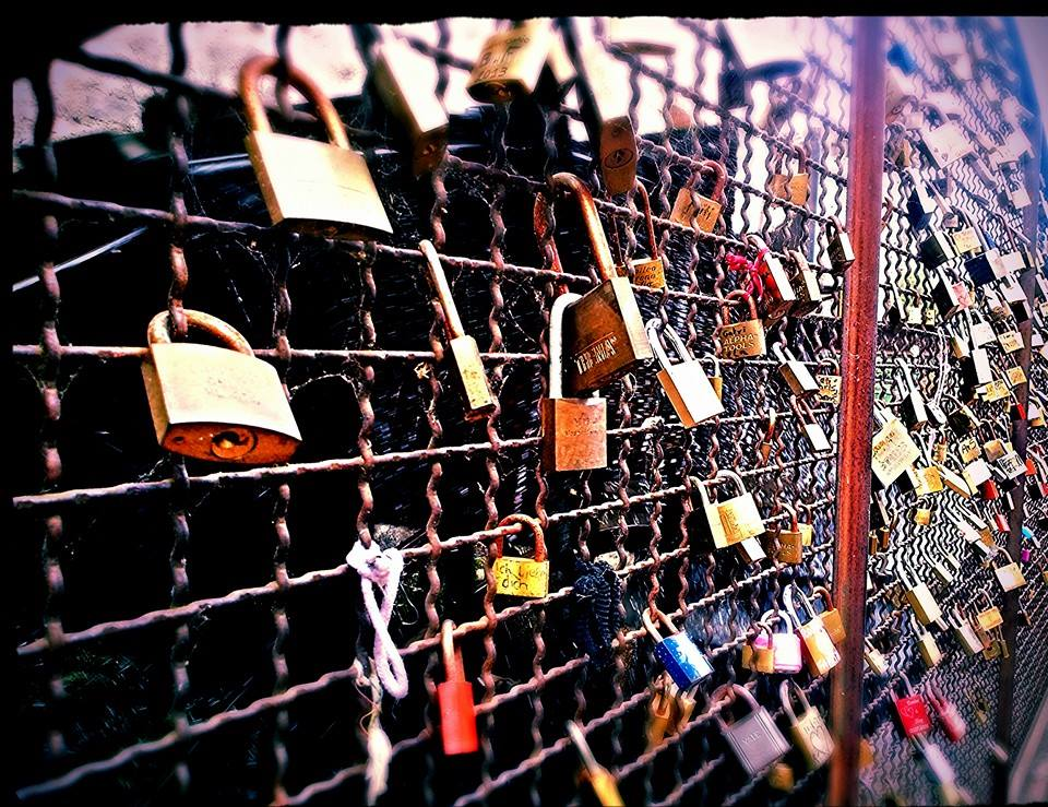 Love Locks in Borghetto