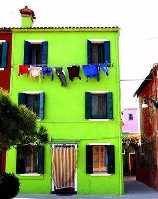 Photo of a typical Burano house by Oktay Kasman