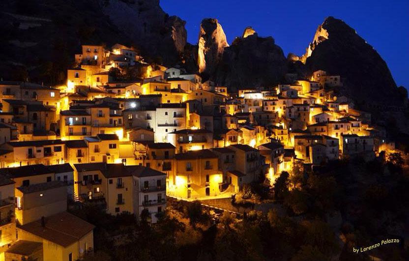 Castelmezzano night by Lorenzo Palazzo