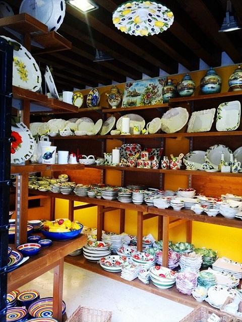 Ceramics shop Bassano Italy