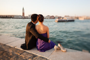 couple looking at Venice