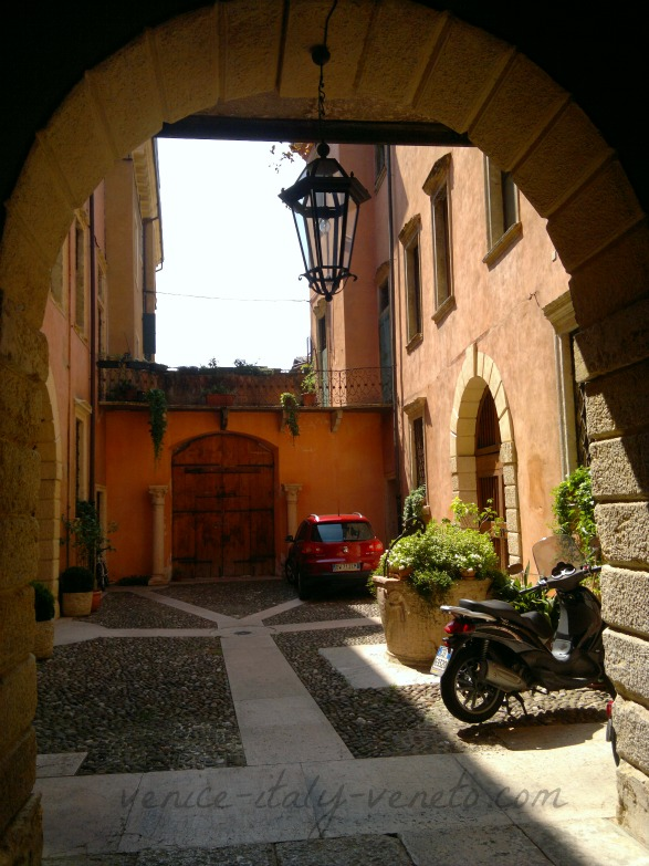 Courtyard with Vespa