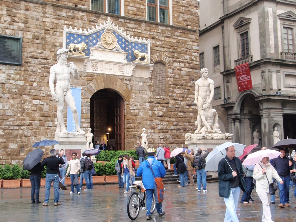 Florence in the rain