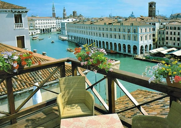 Foscari Palace Hotel in Venice Italy - view