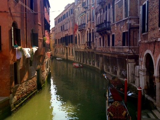 Washing & Canal in Venice italy