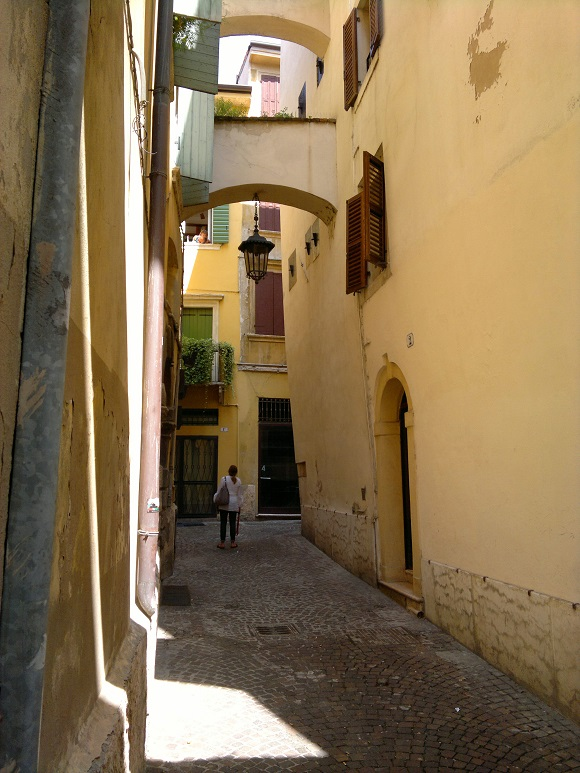 Narrow street in Verona