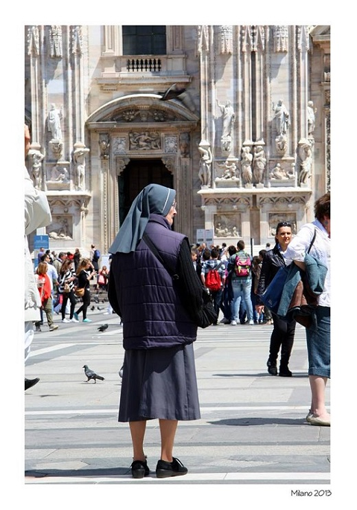 Nun in Milan Italy