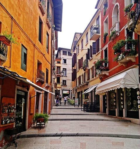 Old town of Bassano del Grappa in Veneto Italy