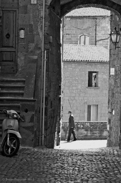 Street scene Orvieto Italy