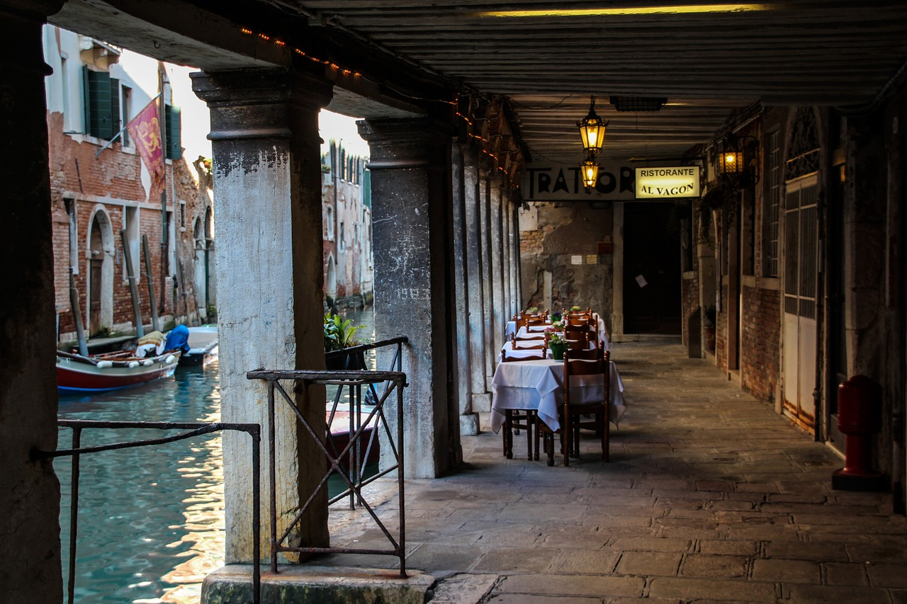 A restaurant in Venice