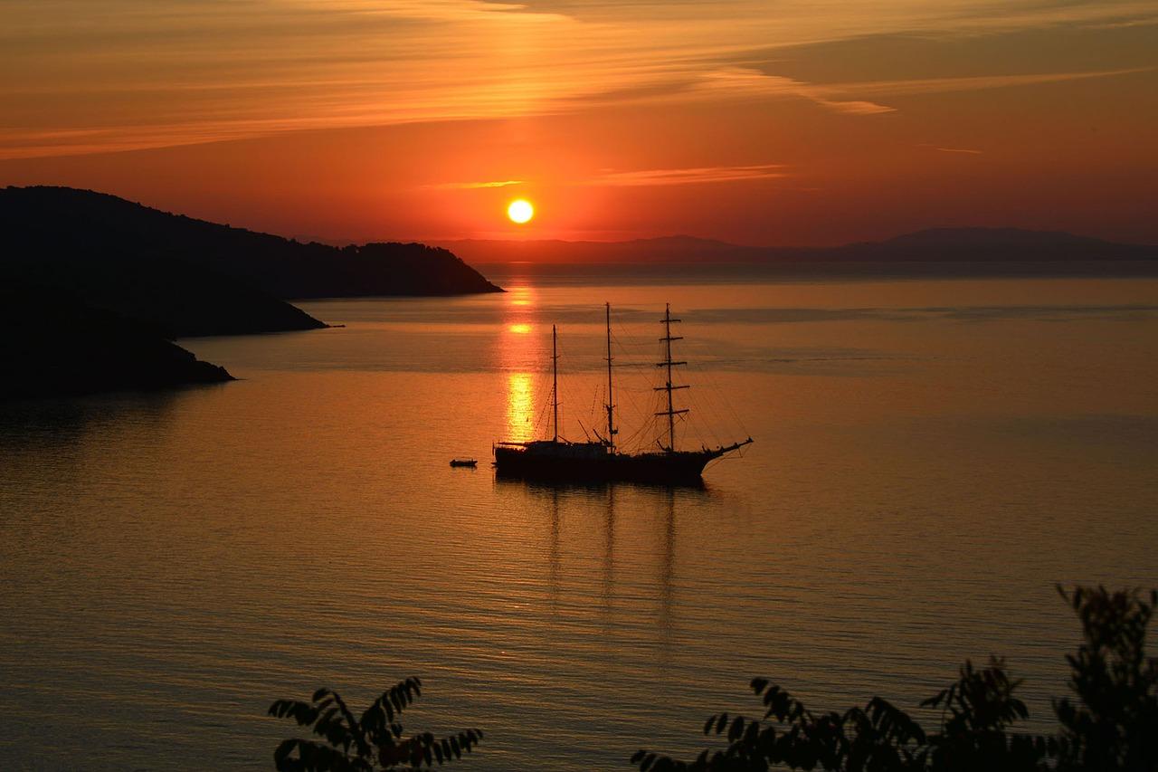 Sunset, Elba Island