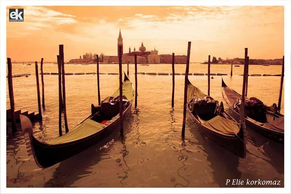 Sunset in Venice by P. Elie Korkomaz