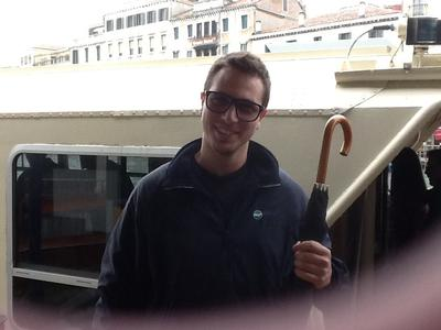 The great young man who found my umbrella in venice!