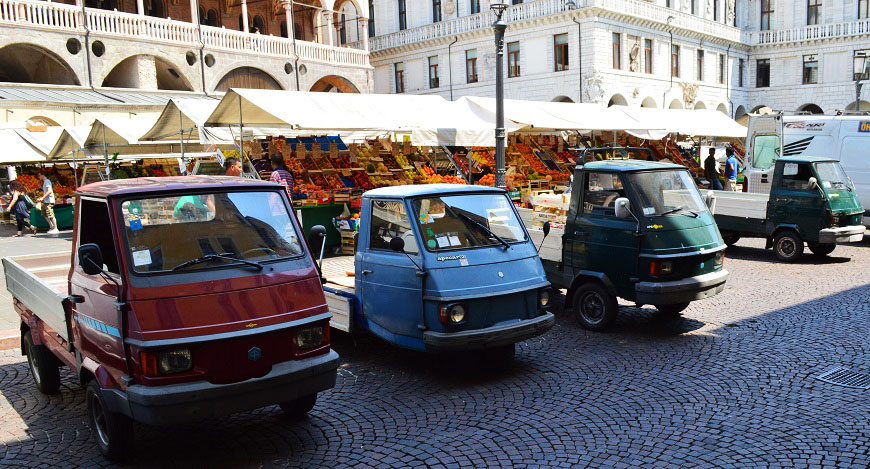 Italian Trucks at the Market