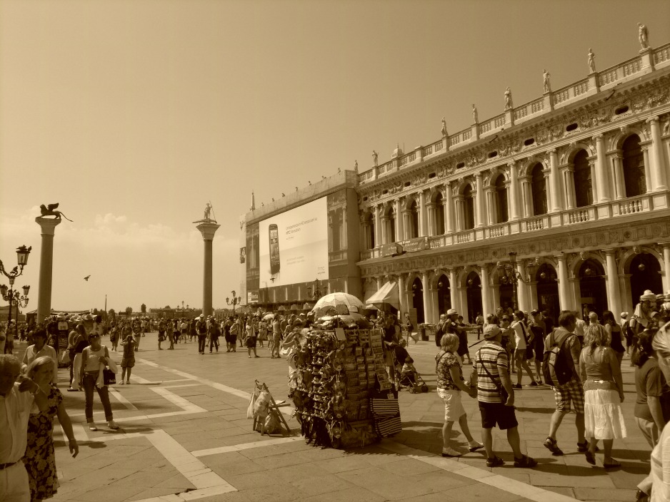 Saint Marks Square in Sepia