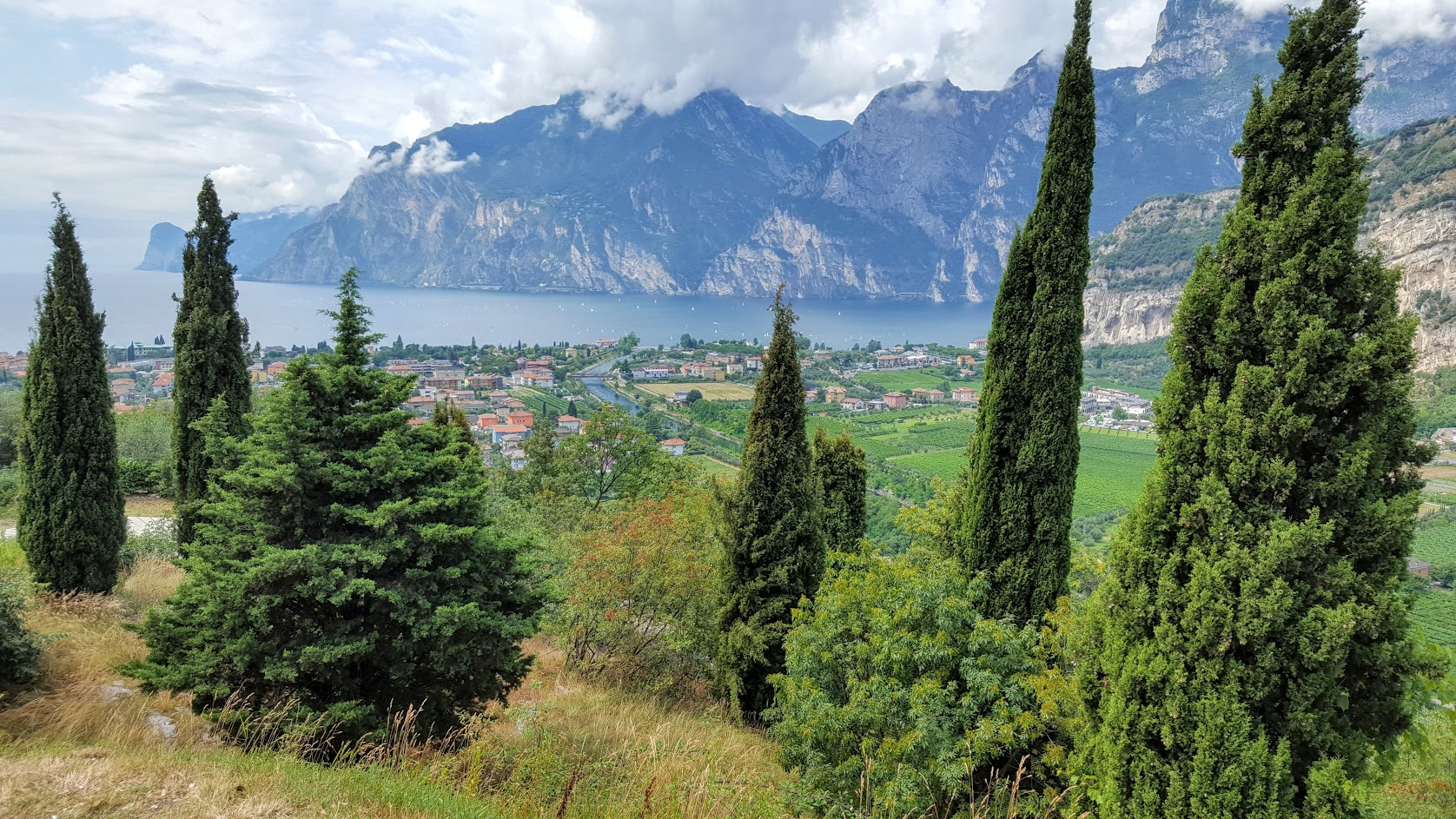 View from above Lake Garda