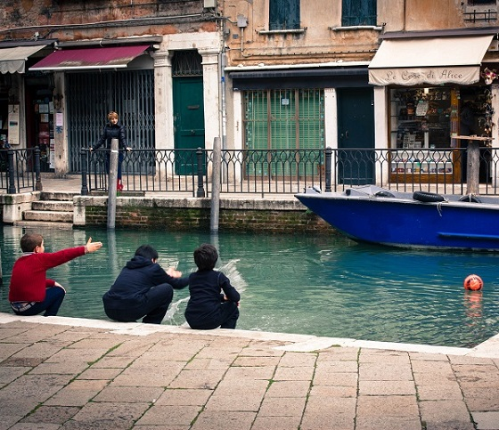 Football in the Canal - Venice