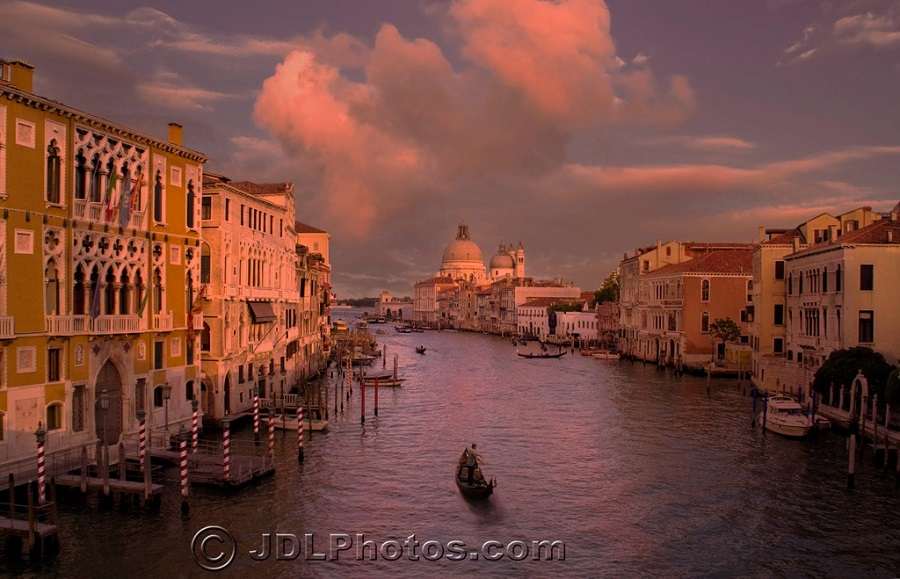 Venice - Grand Canal by Jim DeLutes