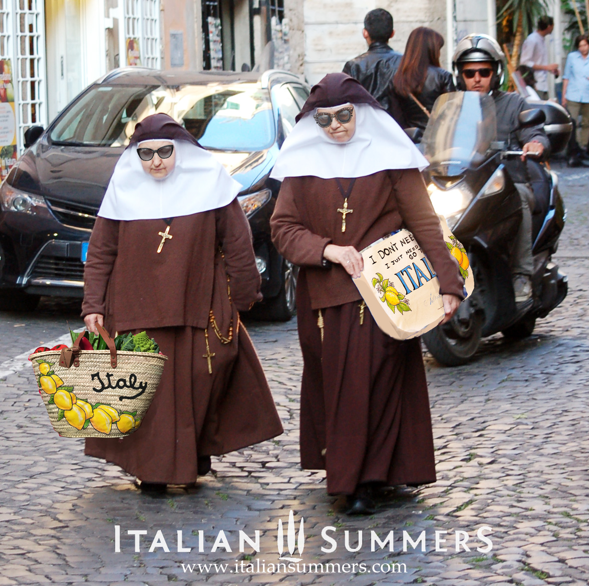 Nuns Shopping in Rome