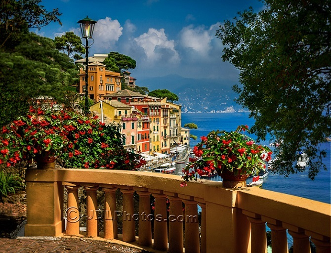 Balcony in Italy by Jim DeLutes