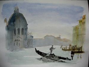 Venice masked in fog
