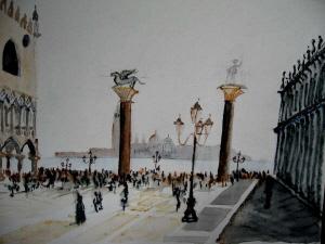 Venice watercolour paintings