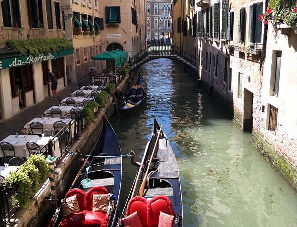 View down a Venetian Canal