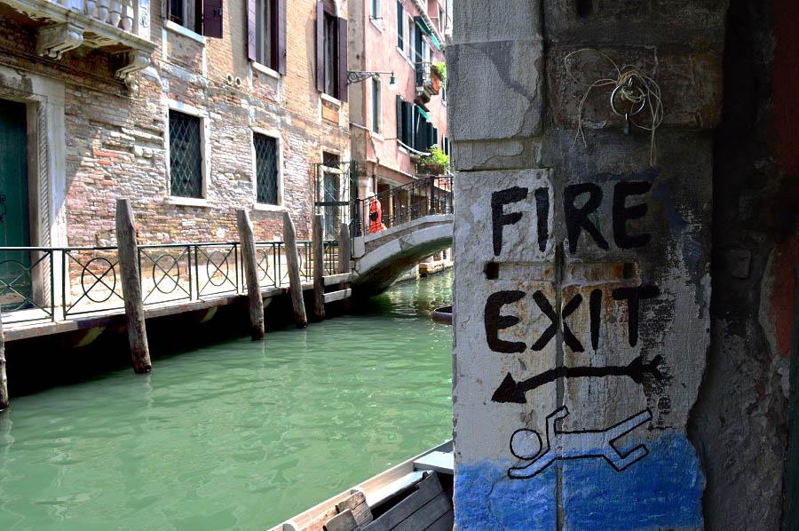 Fire Exit - Venetian style