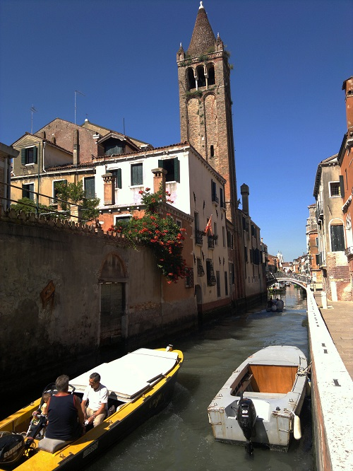 Baby in Venice Italy