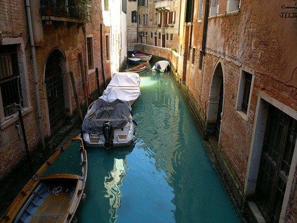 Traffic Jam in Venice Italy