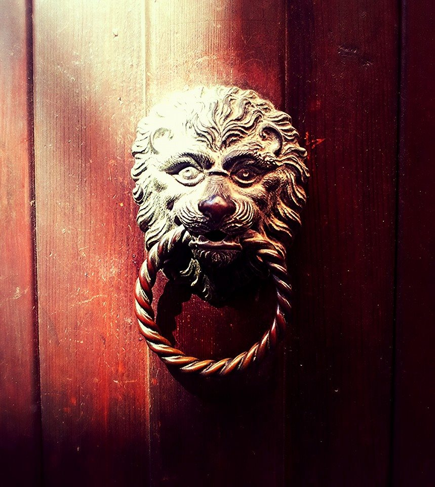 Door knob in Venice Italy