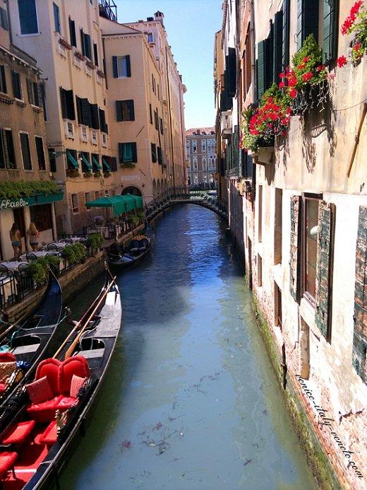 Flower Boxes along Venetian Canal