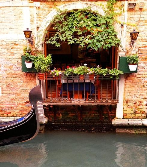 Gondola at the window