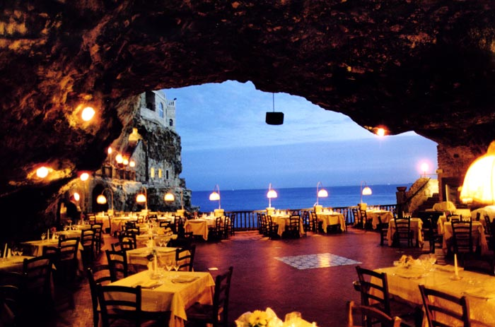 Grotta Palazzese Cave Restaurant in Italy