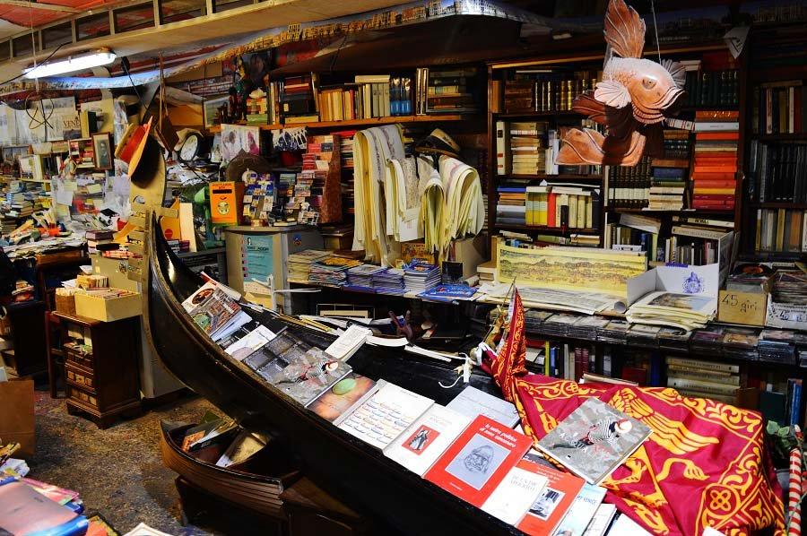 Inside the Acqua Alta Bookstore