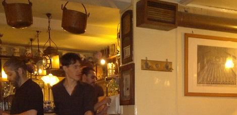 inside La Vedova Restaurant