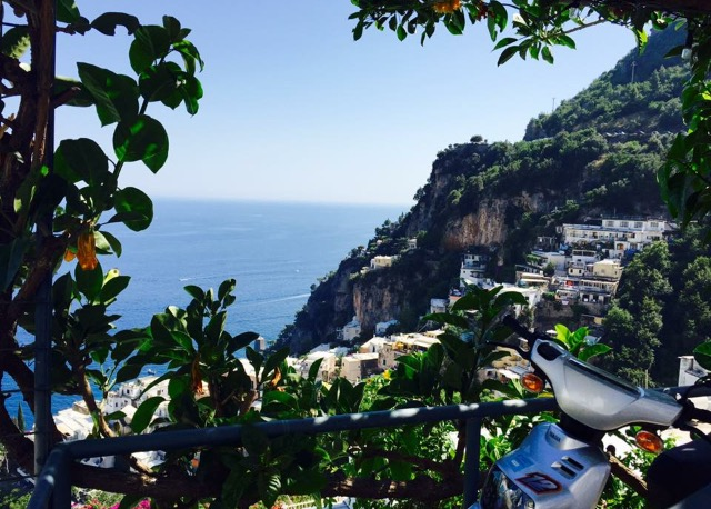 View over Positano