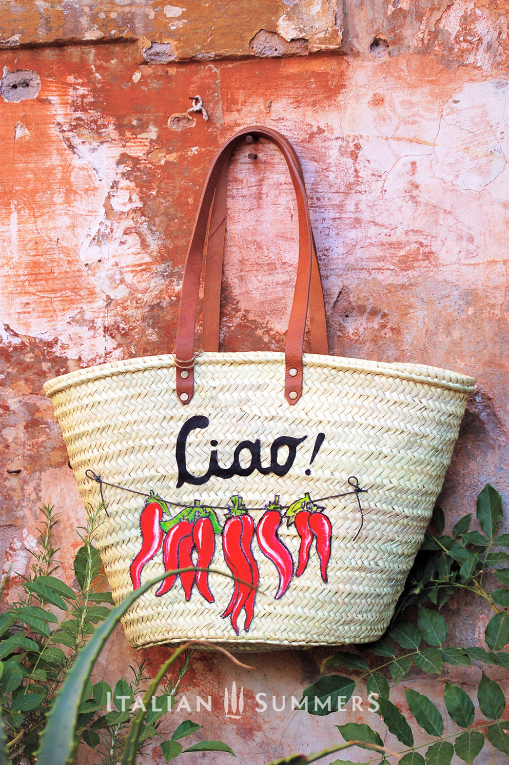 Bag with peppers on it