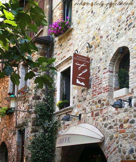 Old stone wall Sirmione Street