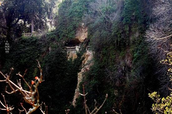 Villa Gregoriana view of garden
